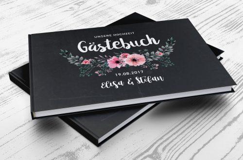 Gästebuch Chalkboard Flower - Cover
