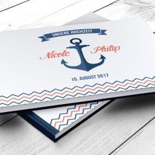 Gästebuch Martitim Anker, personalisiert